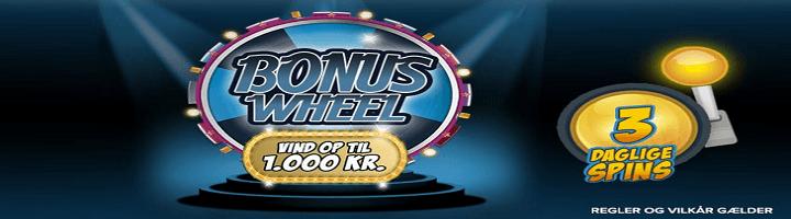 Bonushjul hos Spillehallen