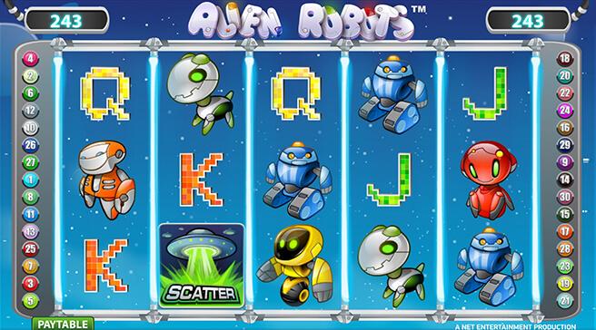 Alien Robots spilleautomat