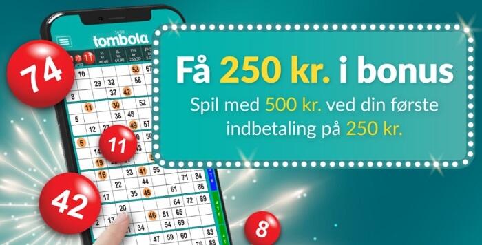 tombola Danmark bonus