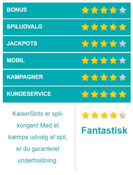 KaiserSlots vurdering