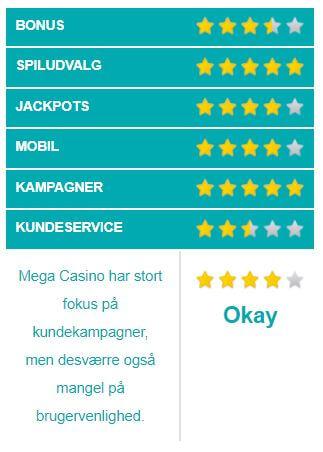 Mega Casino vurdering