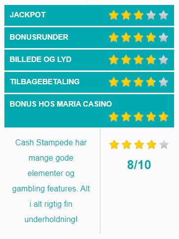 cash stampede spilleautomater vurdering