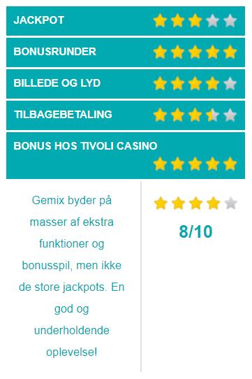 gemix spilleautomater vurdering