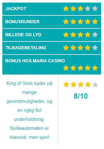 king of slots spilleautomater vurdering